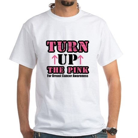 Turn Up The Pink (BC) White T-Shirt