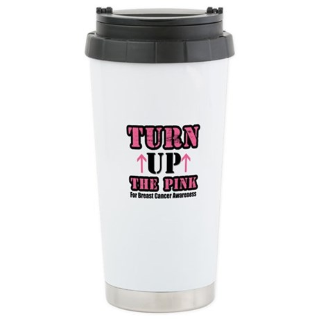 Turn Up The Pink (BC) Ceramic Travel Mug
