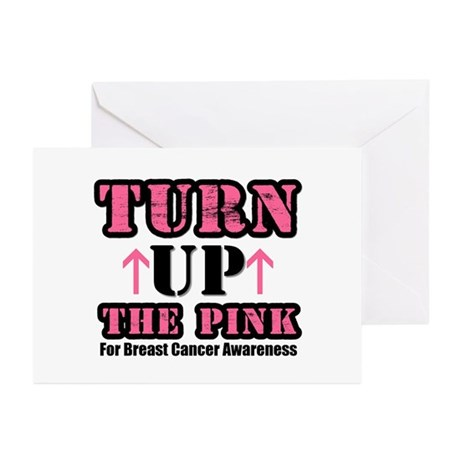 Turn Up The Pink (BC) Greeting Cards (Pk of 10)
