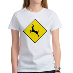 Deer Crossing Sign Women's T-Shirt