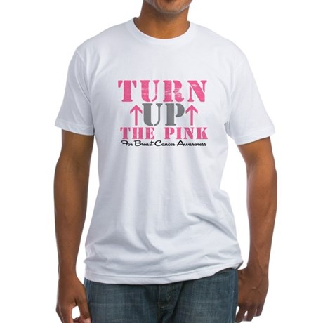 Turn Up The Pink (BC2) Fitted T-Shirt