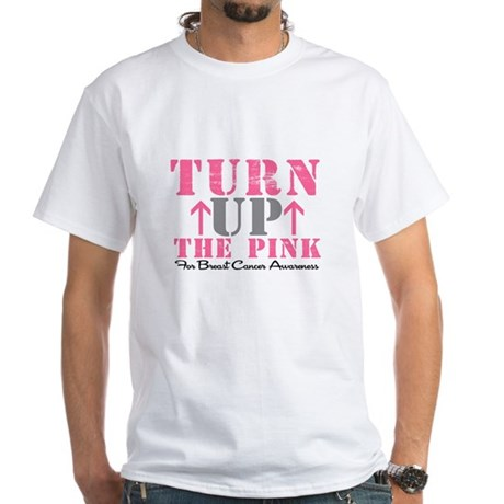 Turn Up The Pink (BC2) White T-Shirt