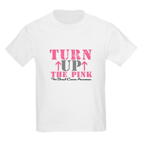 Turn Up The Pink (BC2) Kids Light T-Shirt
