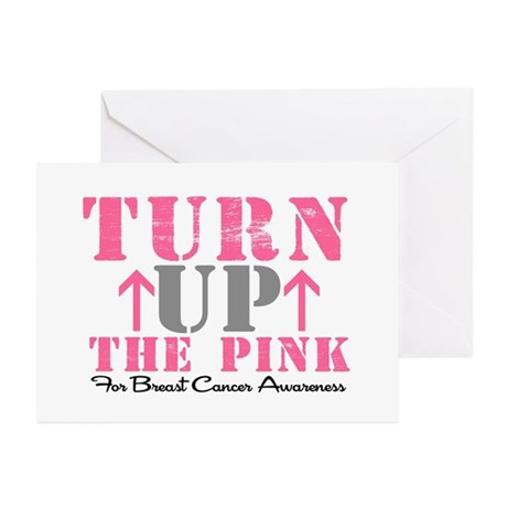 Turn Up The Pink (BC2) Greeting Cards (Pk of 10)