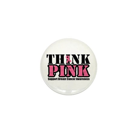 ThinkPinkGrunge Breast Cancer Mini Button