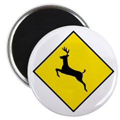 "Deer Crossing Sign - 2.25"" Magnet (10 pack)"
