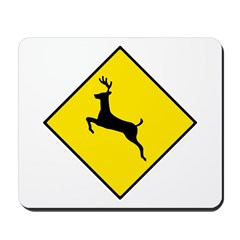 Deer Crossing Sign - Mousepad