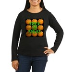 Trick or Treat 9 Great Pumpkins Women's Long Sleev