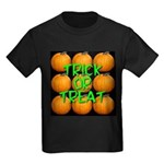 Trick or Treat 9 Great Pumpkins Kids Dark T-Shirt