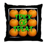 Trick or Treat 9 Great Pumpkins Throw Pillow