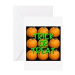 Trick or Treat 9 Great Pumpkins Greeting Card