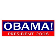 barack obama president in 2008 Bumper Bumper Sticker