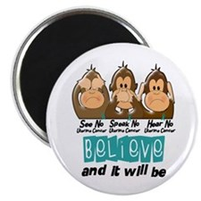 See Speak Hear No Uterine Cancer 3 Magnet