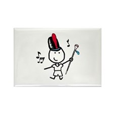 Boy & Drum Major Rectangle Magnet (100 pack)
