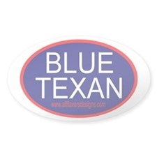 tx red state liberal Oval Decal