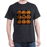9 Cute Jack-o-lanterns Dark T-Shirt