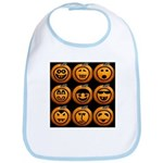 9 Cute Jack-o-lanterns Bib