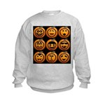 9 Cute Jack-o-lanterns Kids Sweatshirt