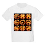 9 Cute Jack-o-lanterns Kids Light T-Shirt