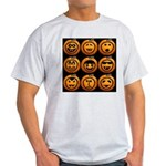 9 Cute Jack-o-lanterns Light T-Shirt