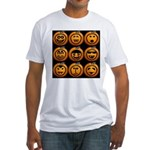 9 Cute Jack-o-lanterns Fitted T-Shirt