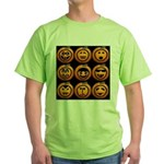 9 Cute Jack-o-lanterns Green T-Shirt