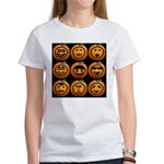 9 Cute Jack-o-lanterns Women's T-Shirt