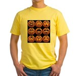 9 Cute Jack-o-lanterns Yellow T-Shirt