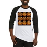 9 Cute Jack-o-lanterns Baseball Jersey