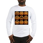 9 Cute Jack-o-lanterns Long Sleeve T-Shirt