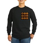 9 Cute Jack-o-lanterns Long Sleeve Dark T-Shirt