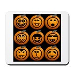 9 Cute Jack-o-lanterns Mousepad