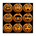 9 Cute Jack-o-lanterns Tile Coaster