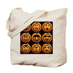 9 Cute Jack-o-lanterns Tote Bag