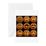 9 Cute Jack-o-lanterns Greeting Cards (Pk of 10)