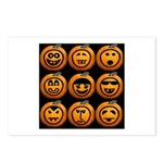 9 Cute Jack-o-lanterns Postcards (Package of 8)