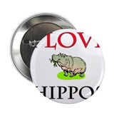 "I Love Hippos 2.25"" Button"