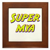 Super mya Framed Tile