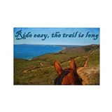 Ride easy trail horse Rectangle Magnet