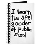 I Learn Two Spel Gooder At Pu Journal
