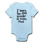 I Learn Two Spel Gooder At Pu Infant Bodysuit