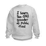 I Learn Two Spel Gooder At Pu Kids Sweatshirt