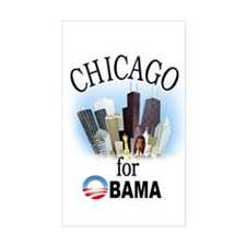 Chicago for Obama Rectangle Decal