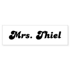 Mrs. Thiel Bumper Sticker (10 pk)
