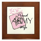 Proud Army Wife (lp) Framed Tile