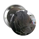 "Black Percheron Horse 2.25"" Button (10 pack)"