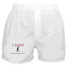 I Love Emperor Penguins Boxer Shorts