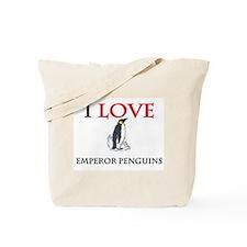 I Love Emperor Penguins Tote Bag