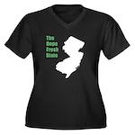 Dope Fresh! Women's Plus Size V-Neck Dark T-Shirt