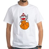 Sock Monkey with Basketball Shirt